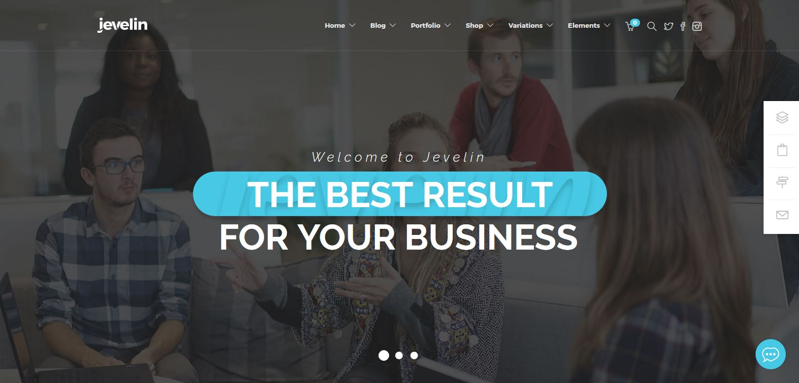 Jevelin Corporate Business WordPress Theme