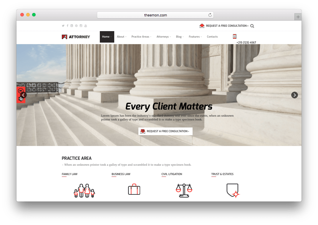 Attorney WordPress Lawyer Theme