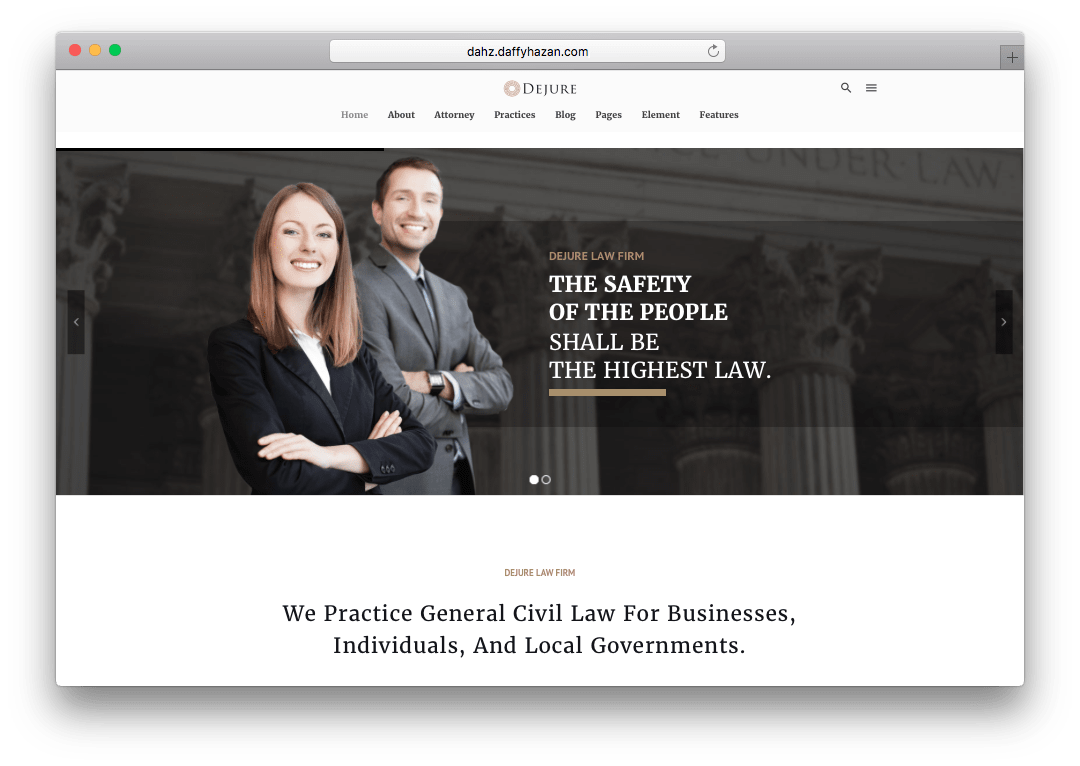 Dejure WordPress Law Firm Theme