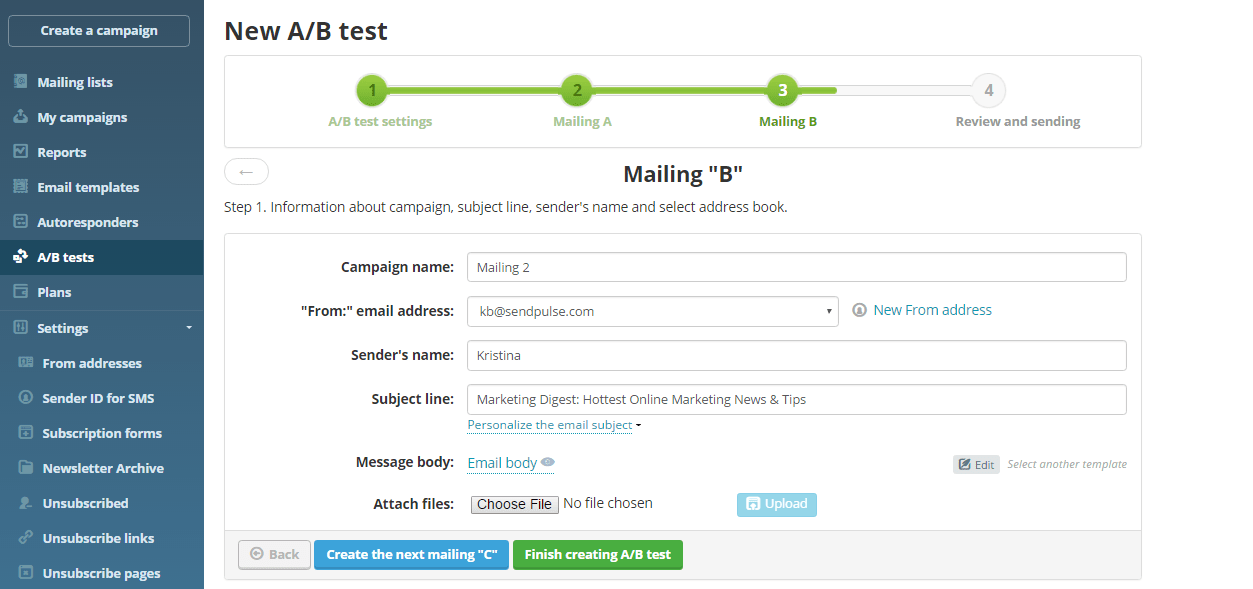 Email Split Testing