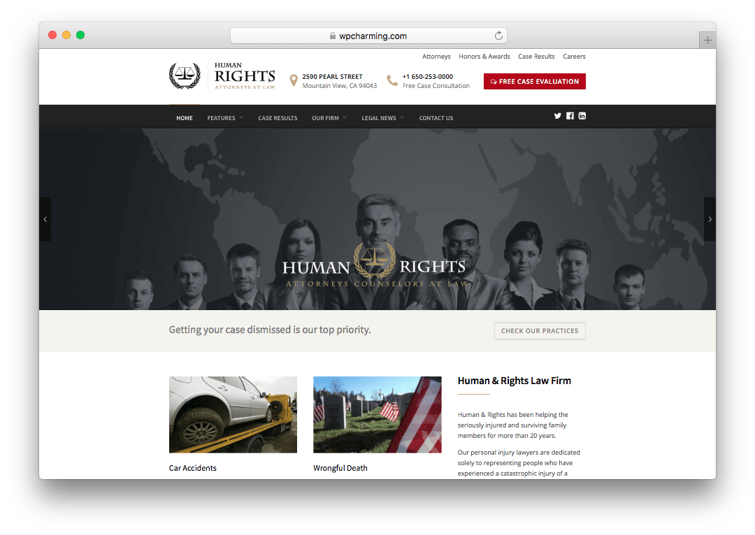 HumanRights Lawyer & Attorney WordPress Theme