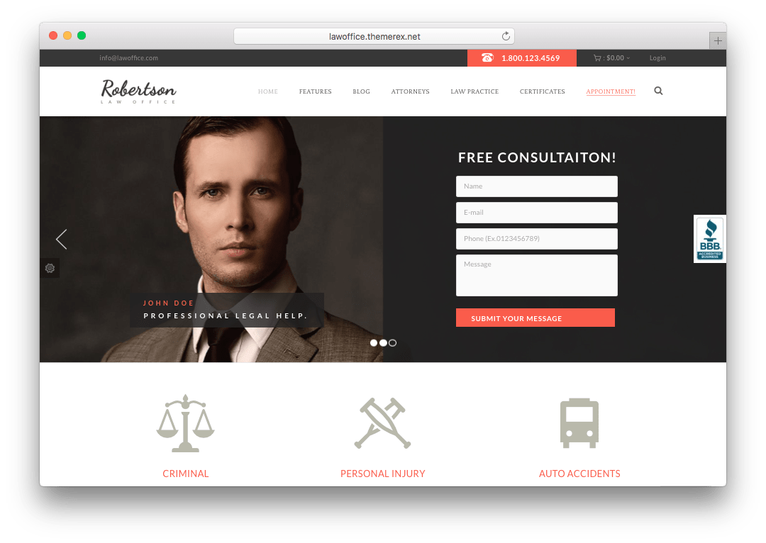 Law Office WordPress Legal Office Theme