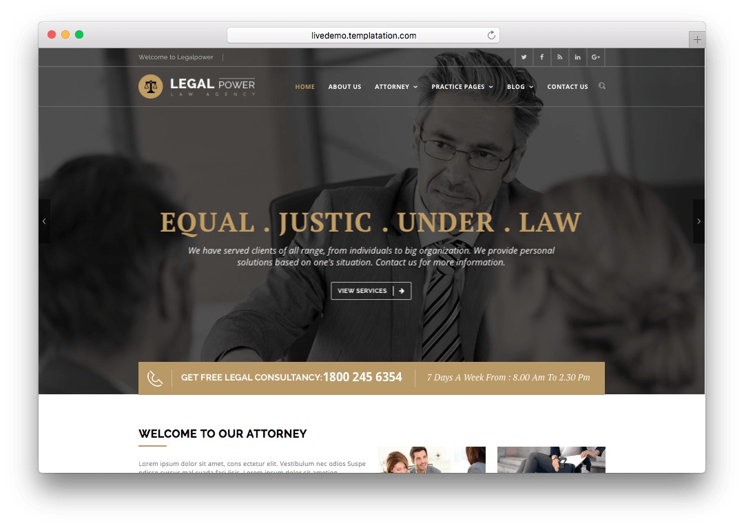 Legal Power Lawyer Attorney WordPress Theme