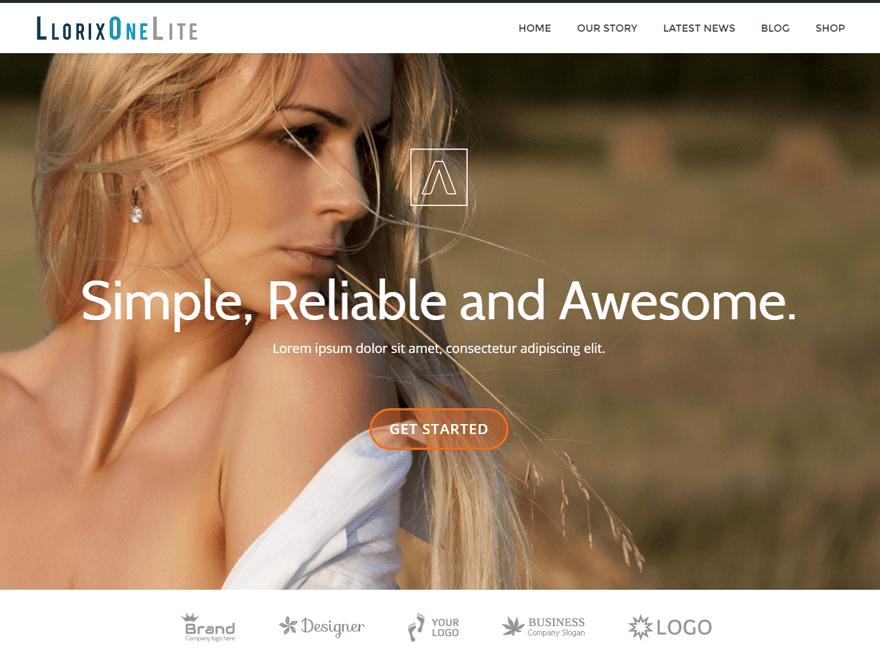 Llorix One Lite Free WordPress Portfolio Theme