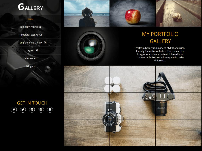 Portfolio Gallery Free WordPress Theme