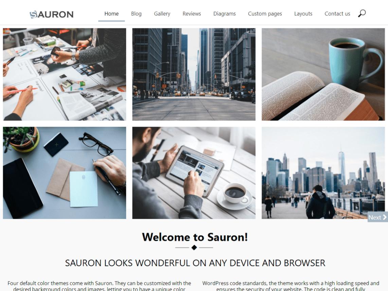 Sauron Free WordPress Portfolio Theme
