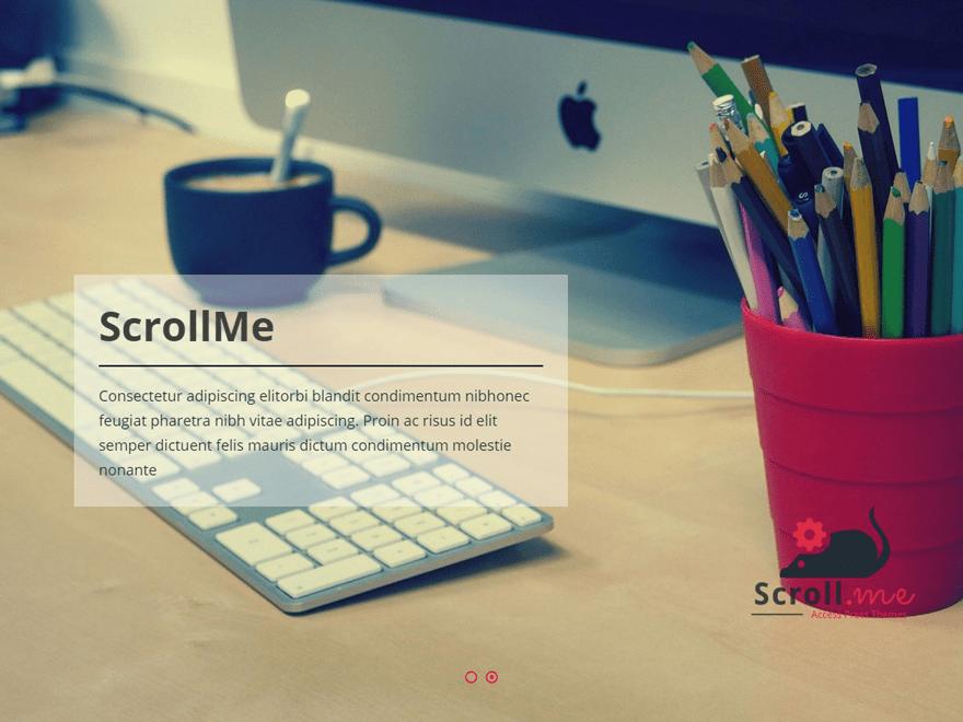 ScrollMe Free WordPress Portfolio Theme