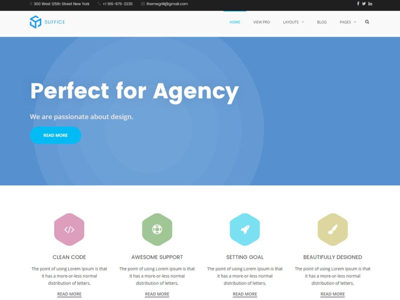Suffice Free WordPress Portfolio Theme