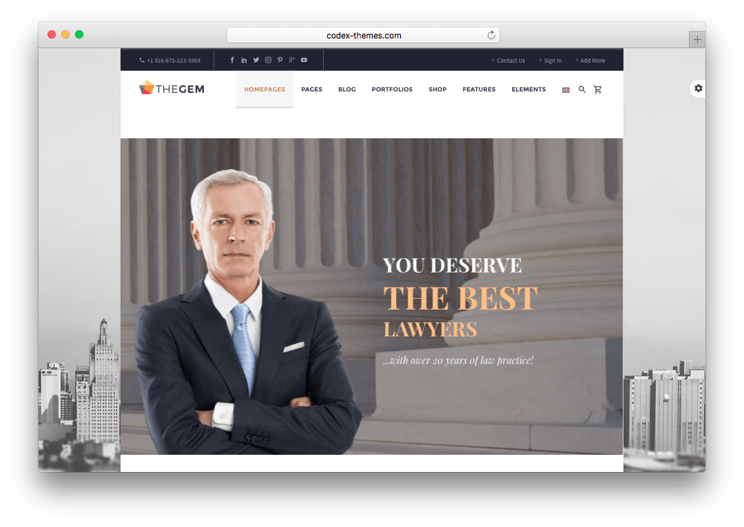 TheGem Law Office WordPress Theme