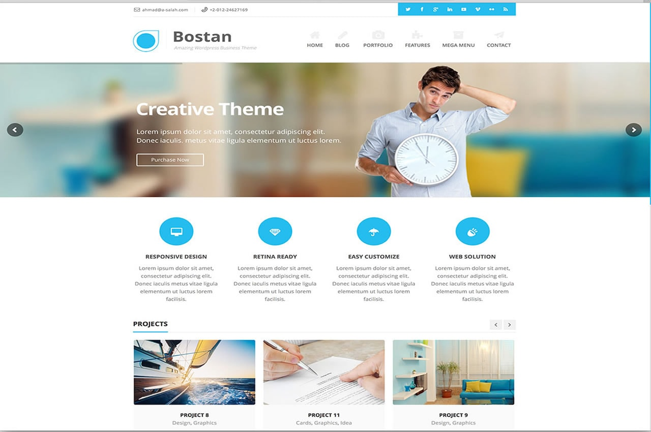 Bostan Best Small Business WordPress Theme
