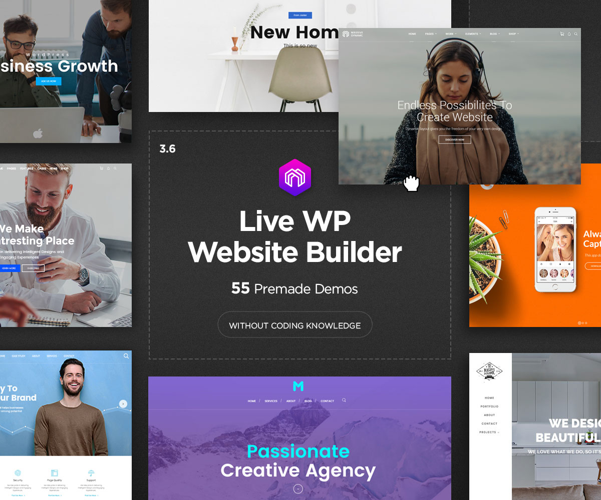 Massive Dynamic Best Small Business WordPress Theme
