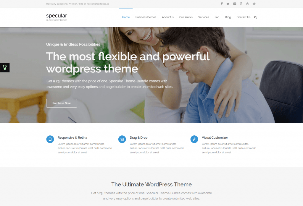Specular Best Small Business WordPress Theme