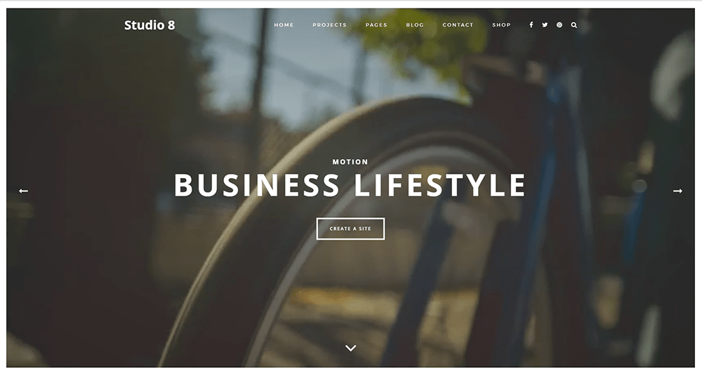 Studio 8 Best Small Business WordPress Theme