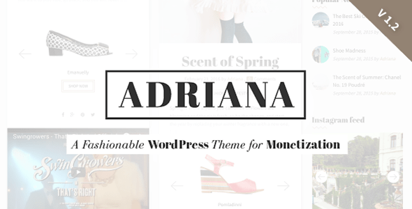 Adriana Fashion WordPress Instagram Theme