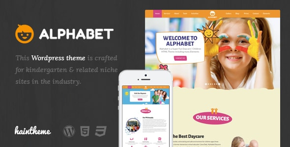 Alphabet Kids Children WordPress Theme