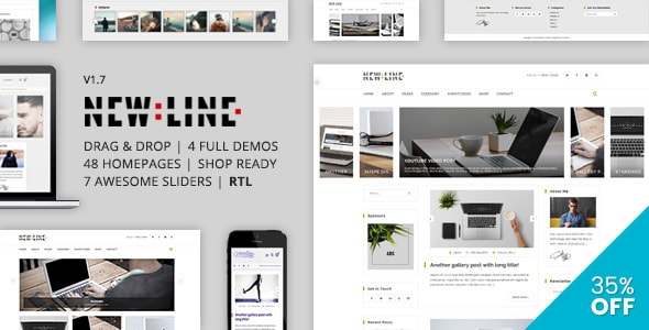 NewLine WordPress Instagram Blog Theme