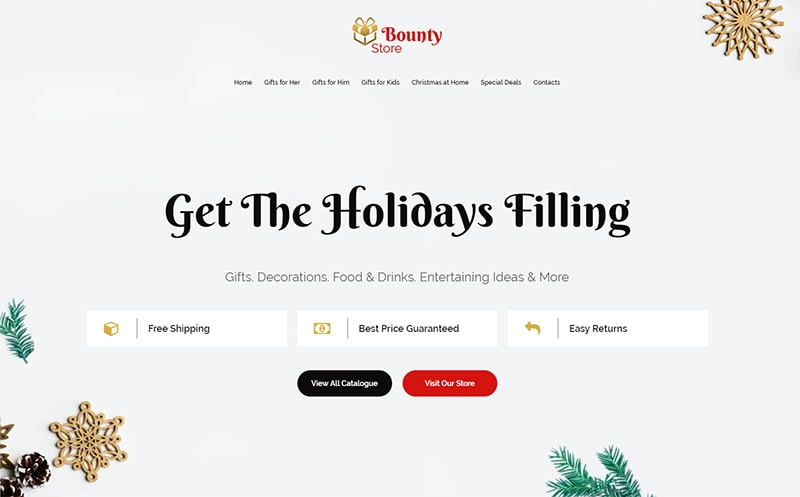Bounty Store Christmas Landing Page Template