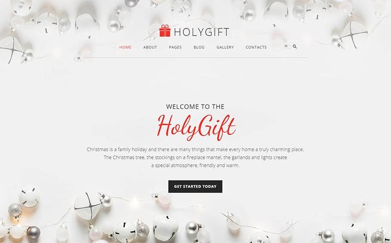 HolyGift Christmas Gifts Store Joomla Template