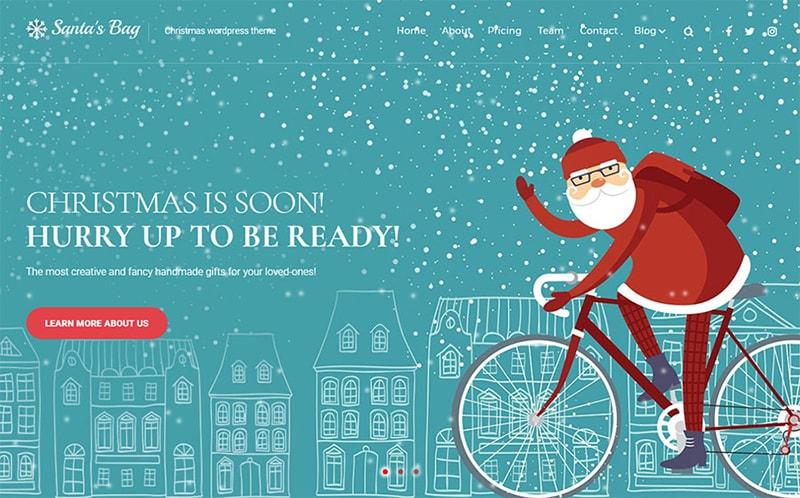 Santas Bag Christmas Landing WordPress Theme