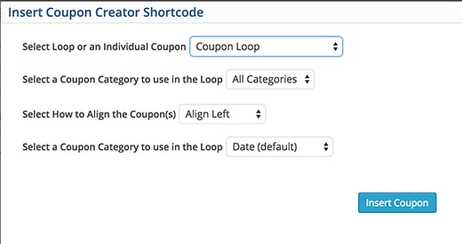 create a coupon-dedicated web page